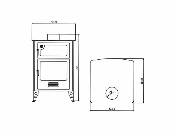 Planos para estufas Modelo Jimena
